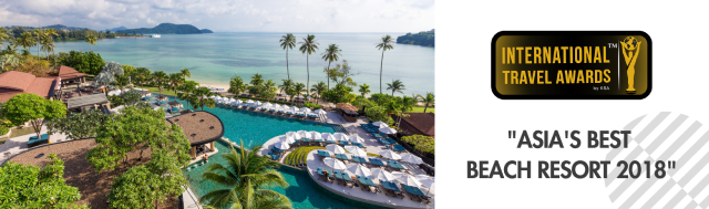 Asia's Best Beach Resort 2018 awards Pullman Phuket Panwa Beach Resort