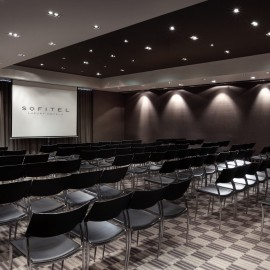 The Boulevard Room theatre set up