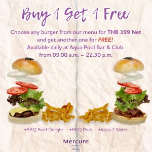 buy1 free 1 burger pattaya