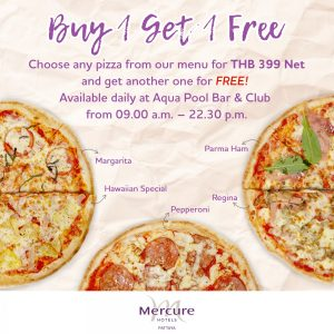 buy1 free 1 pizza pattaya