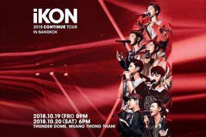 iKON 2018 Continue Tour Bangkok