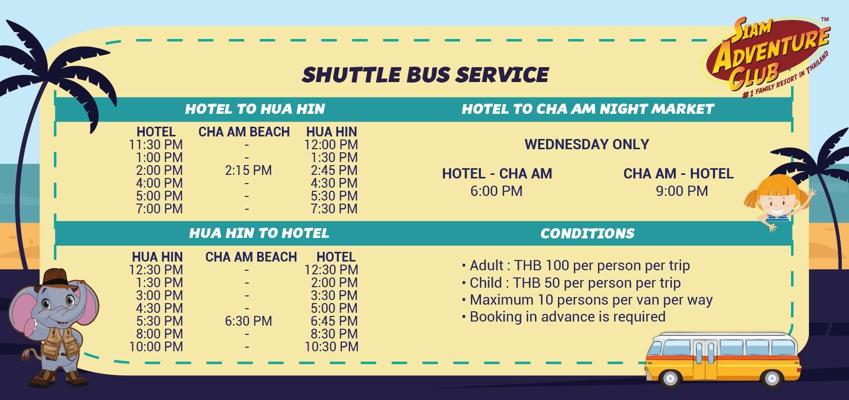Shuttle Service Schedul