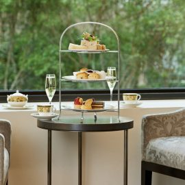 Sofis Lounge Weekday Afternoon Tea on stand Sofitel Melbourne On Collins