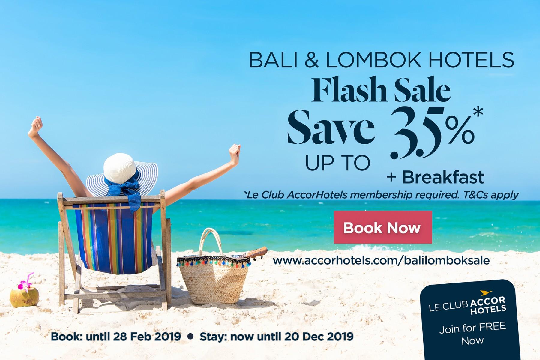 Mercure Bali Sanur Resort Bali Lombok Flash Sale