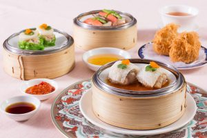 Dim Sum dishes on a table