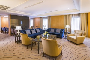Luxurious living room from the Presidential Suite