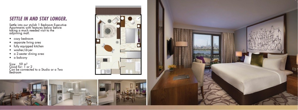 Hotel Pullman Dubai Creek City Centre One Bedroom Apartment