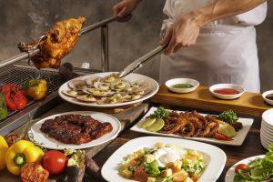 Smoke-Fire-smoky-barbecue-buffet-smoked-salmon-smoked-chicken-duck-pork-beach-bbq-buffet-at-pullman-danang-beach-resort