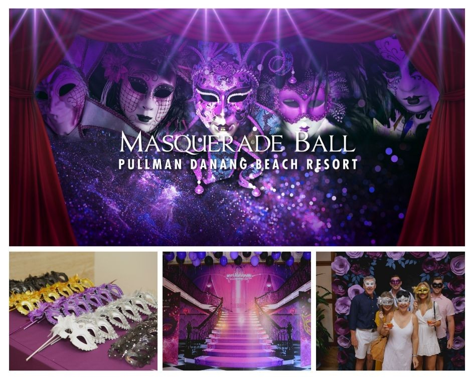 Backdrop-Gasby-masquerade-theme-party-set-up-year-end-celebration-pullman-danang-beach-resort-indoor-venue-lotus-ballroom