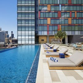 Enjoy a moment of relaxation in the m infinity pool facing Sydney s skyline