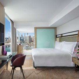 Luxury corner room darling harbour view