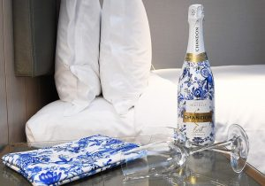 Chandon x Seafolly exclusive package, with Seafolly gift bedside