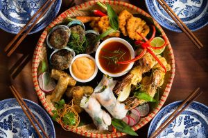 Asian flair buffet