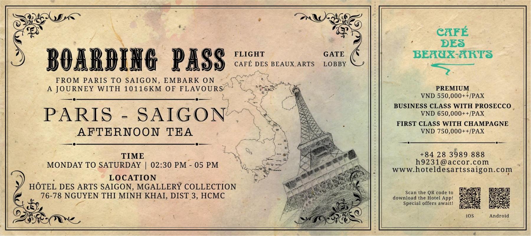 Hotel Des Arts Saigon Mgallery Collection Flyer