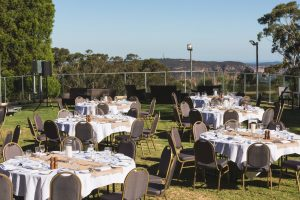Fairmont Resort Lawn Function Area magnificent views of the Jamison Valley